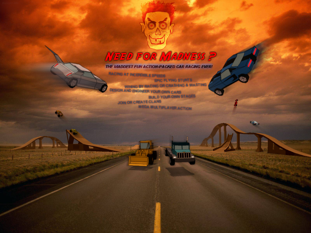 Need for Madness is a very crazy 3D car racing game! A very mad multiplayer online car game!